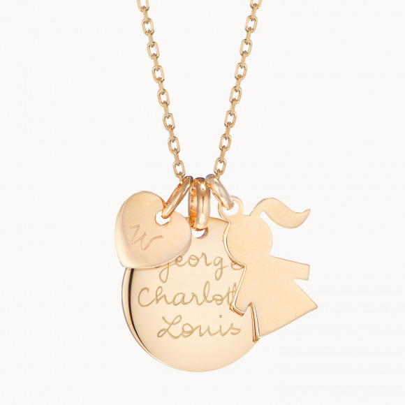 personalised mother necklace gold plated duchess necklace kate middleton merci maman