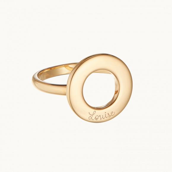 anello personalizzato mamma eternità placcato oro giallo merci maman