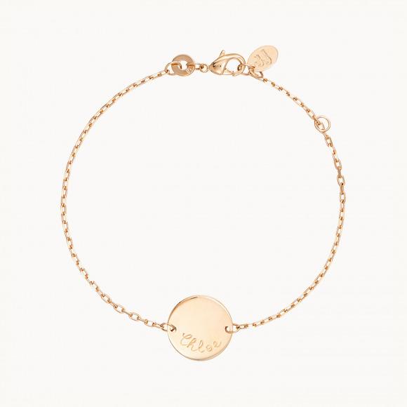 Pulsera personalizada de cadena Medalla madre baño de oro pulsera de cadena merci maman