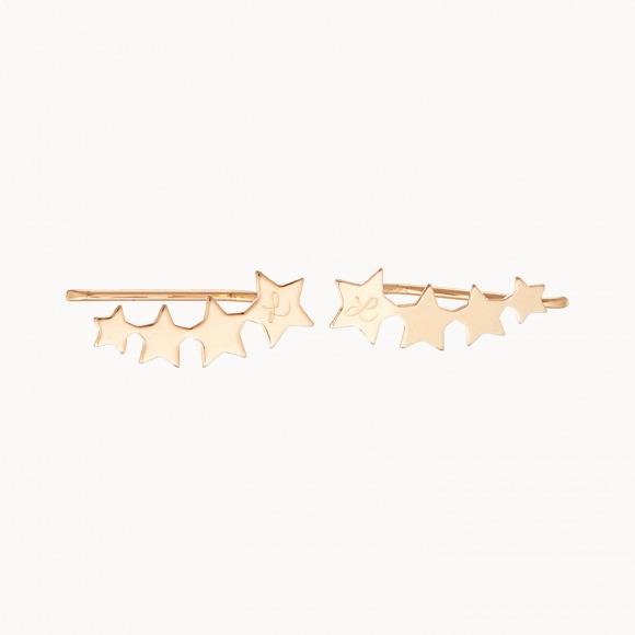 Boucles d'oreilles Etoile filante personnalisées maman plaqué or merci maman