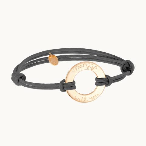 Bracelet eternity personalisé maman plaqué or cadeau merci maman