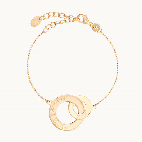 personalised mother bracelet gold plated intertwined chain charm bracelet merci maman