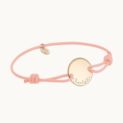 Bracelet pastille personnalisé maman argent merci maman