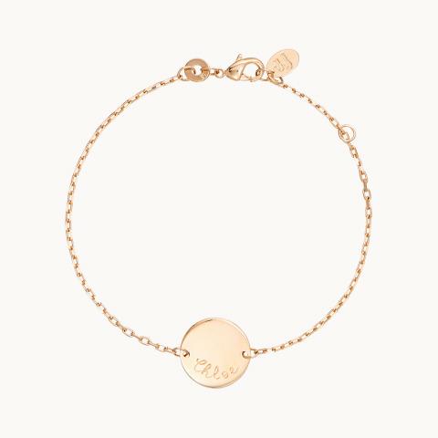 personalised mother bracelet gold plated pastille chain bracelet merci maman