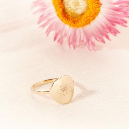 Birth Flower Ring