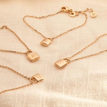 Collar personalizado de cadena con candado