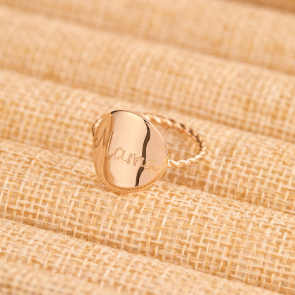 Personalized Entwined Signet Ring