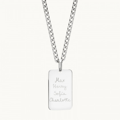 Personalized Dog Tag Chain Necklace