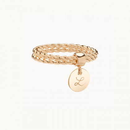 Personalised Entwined Double Band Ring