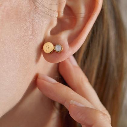 Boucles d'oreilles Pierre fine personnalisées