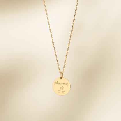 Fine Disc Necklace