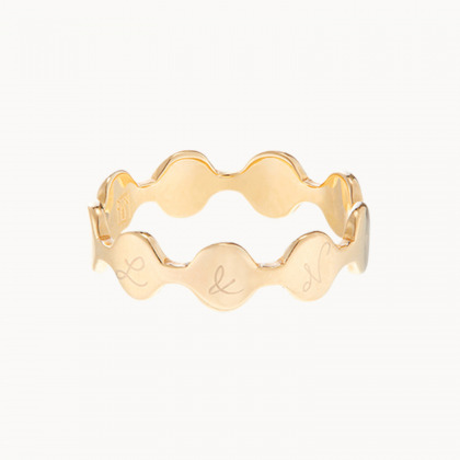 Personalized Initial Pastille Ring