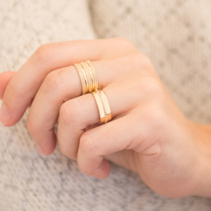 Personalized Single Beaded Ring