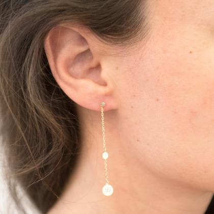 Personalised Initial Pastille Earrings
