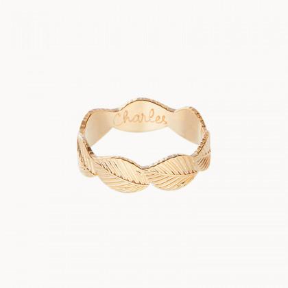 Personalised Leaf Ring