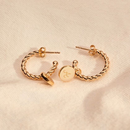 Personalised Entwined Hoop Earrings