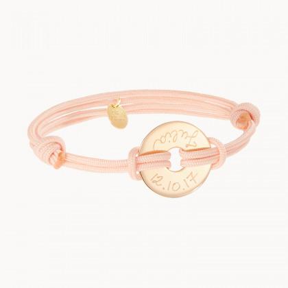 Personalisiertes Armband mit kleiner Scheibe