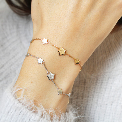 Bracelet Étoilé Initiale personnalisé