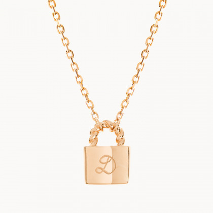 Personalized Padlock Chain Necklace