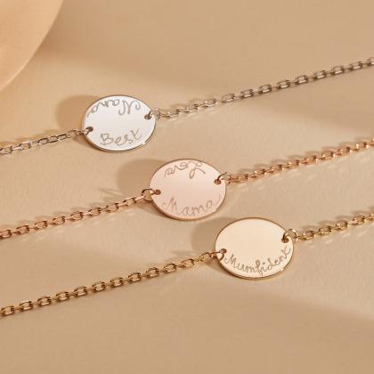 Pulsera personalizada de cadena Medalla