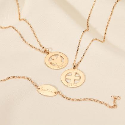 Bracciale personalizzato a catena con piastrina identificativa ovale