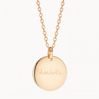Personalized Signature Disc Necklace