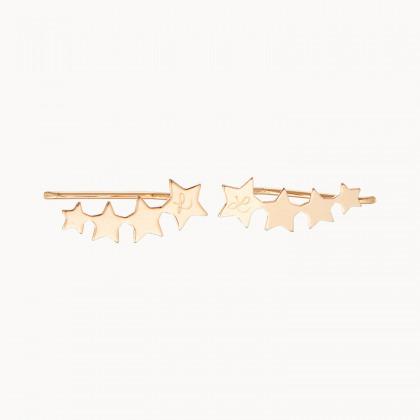Boucles d'oreilles Etoile filante personnalisées
