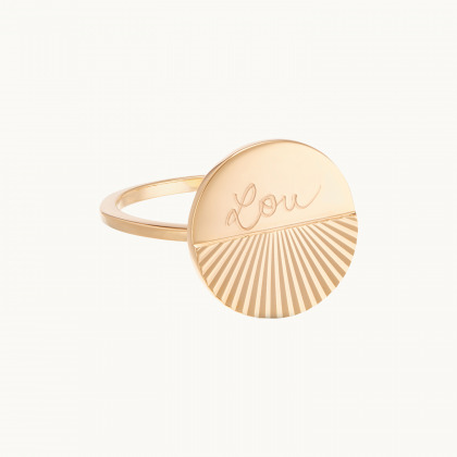 Personalized Sunray Ring