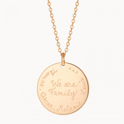 Personalised We Are Family Necklace