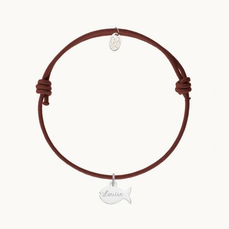 Bracelet animaux personnalisé maman enfant argent merci maman