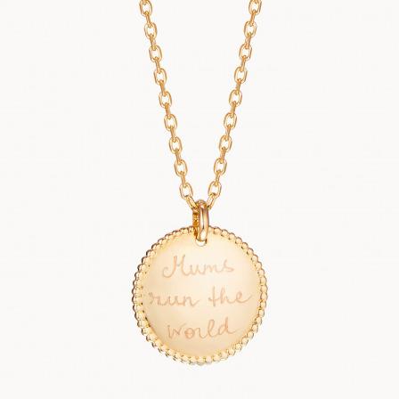 Collar personalizado con medalla de cuentas madre baño de oro collar con medalla merci maman