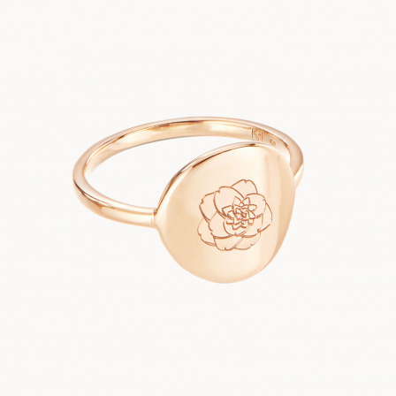 personalised mother ring gold plated birth flower ring merci maman