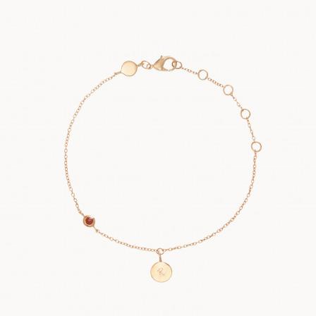 pulsera personalizada cadena piedra nacimiento baño oro madre merci maman
