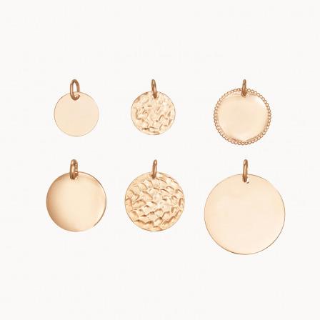 compra un pendente a disco placcato oro 18c personalizzato pendente collana mamma placcato oro merci maman