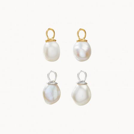 acquista una perla placcata oro perla a goccia mix and match merci maman