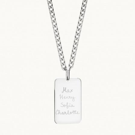 Personalisierte Halskette mit Erkennungsmarke