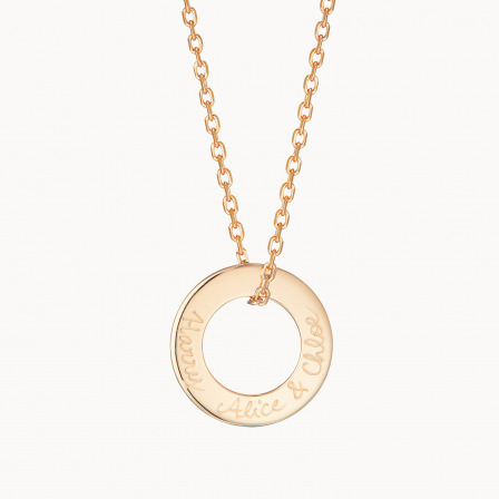 personalised mother necklace gold plated eternity necklace merci maman