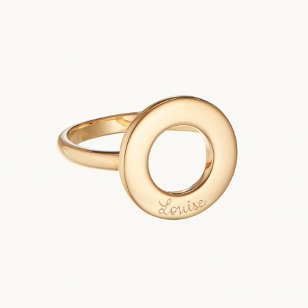 personalised mother ring gold plated eternity ring merci maman