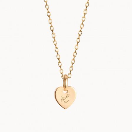 Collana personalizzata mini cuore in oro massiccio