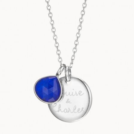 Personalised Gemstone Necklace-925 Sterling Silver