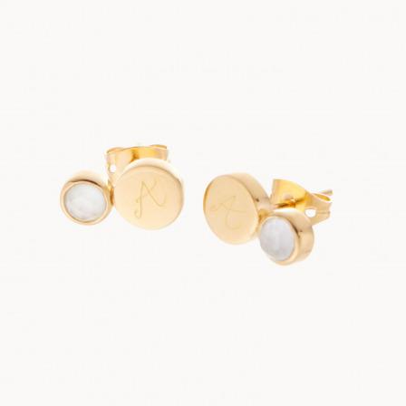 personalised mother earrings gold plated gemstone earrings merci maman