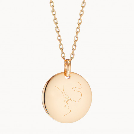 personalised mother necklace gold plated illustration necklace merci maman