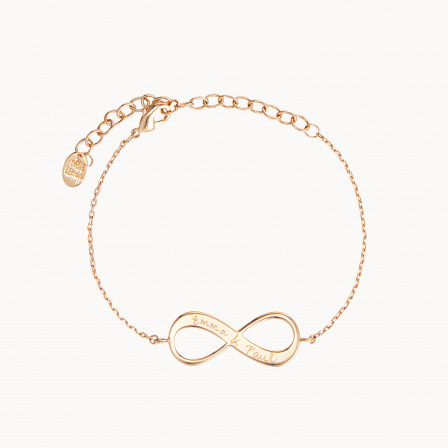 personalised mother bracelet gold plated infinity chain bracelet merci maman
