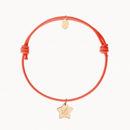 Bracelet initiale personnalisé maman enfant plaqué or merci maman