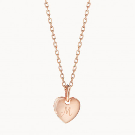 Personalised Initial Necklace-18K Rose Gold Plated