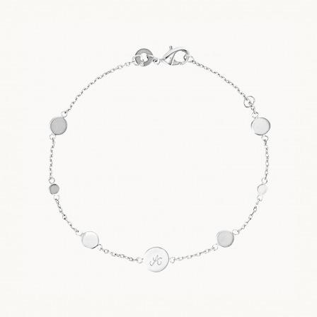 Personalised Initial Pastille Bracelet-925 Sterling Silver