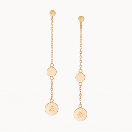personalised mother earrings gold plated initial pastille earrings merci maman