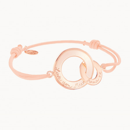 Personalised Intertwined Bracelet-18K Rose Gold Plated