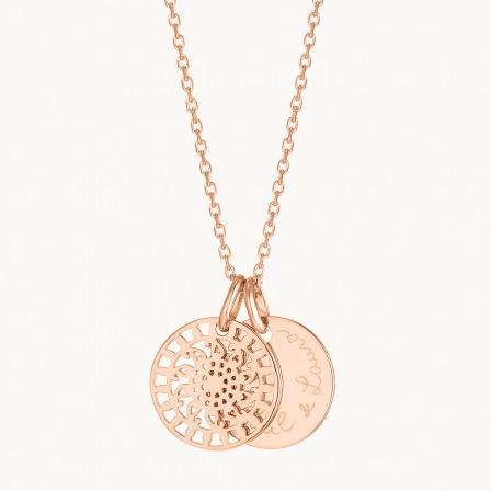 Personalised Mandala Necklace-18K Rose Gold Plated