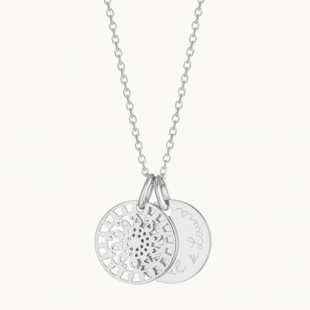 Personalised Mandala Necklace-925 Sterling Silver